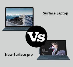 مقایسه سرفیس پرو ۲۰۱۷ و سرفیس لپ تاپ